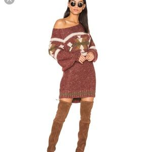 Free People Northern Lights Sweater Mini Dress